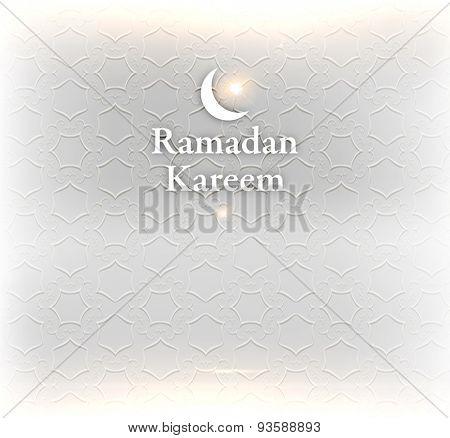 Ramadan Kareem. Ramadan Greeting Card Background. Muslim Pattern. Holiday Design.