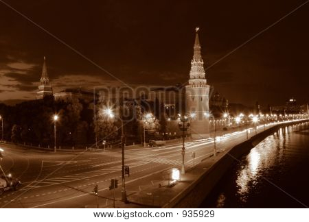 Night Moscow.