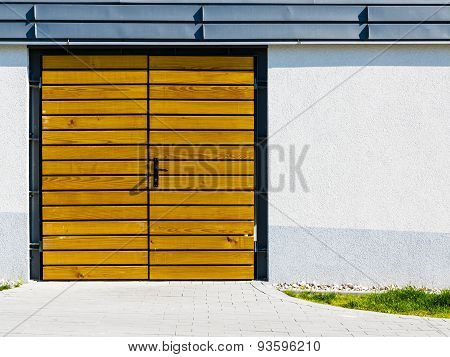 Yellow Wooden Door Outside.