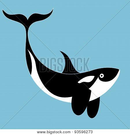 portrait of a killer whale