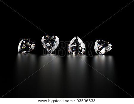 Gemstone on black. Jewelry background.