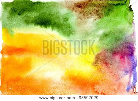 Abstract watercolor background,hand drawn illustration