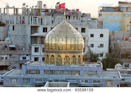 Dome of Sayeda Zeinab shrine in Syria