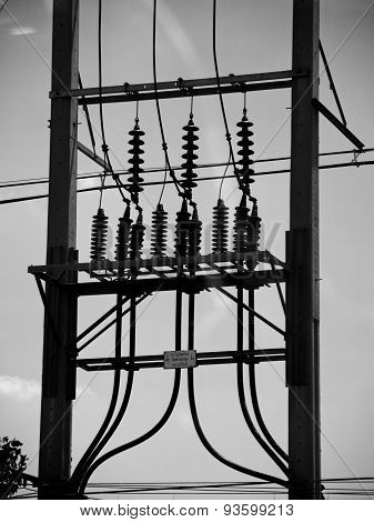 Electric Post Power Line