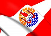 picture of french curves  - 3D Flag of the French Polynesia - JPG