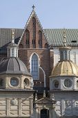 pic of stanislaus church  - Wawel Cathedral on Wawel Hiill in old town of Cracow in Poland - JPG