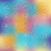 pic of line graph  - Line Circle Finance Business Office Icons Set - JPG