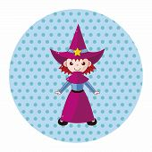 image of witch  - Witch Cartoon Theme Elements - JPG