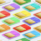 picture of micro-sim  - SIM cards seamless pattern background - JPG