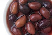 foto of kalamata olives  - Bowl of Kalamata Greek olives - JPG