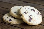 picture of shortbread  - Round chocolate chip shortbread biscuits - JPG