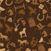 pic of winged-horse  - brown horse theme icons seamless pattern eps10 - JPG
