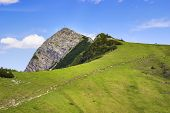 picture of bavaria  - View to the summit of Aiplspitz in the Alps in Bavaria Germany - JPG