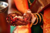 stock photo of mehendi  - A bride - JPG