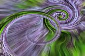 picture of kinetic  - Abstrac tlilac and green twirl  - JPG