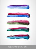 image of stroking  - Vector set colorful stroke - JPG