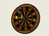 Постер, плакат: Board Games Darts With Three Darts Of Different Colors