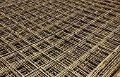 picture of reinforcing  - Abstract image of reinforcement steel mesh for concrete slabs - JPG