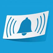 stock photo of blue-bell  - Sticker with ringing bell image - JPG