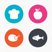 stock photo of meat icon  - Circle buttons - JPG