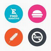 image of hamburger  - Circle buttons - JPG