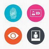picture of fingerprint  - Circle buttons - JPG
