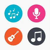 picture of music symbol  - Circle buttons - JPG