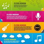 pic of musical symbol  - Flyer brochure designs - JPG