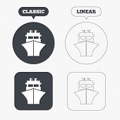 picture of ship  - Ship or boat sign icon - JPG