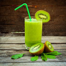 picture of sorrel  - Fresh green smoothie - JPG