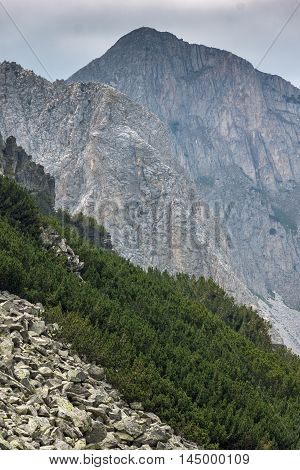 Landscape of Cliffs of  Sinanitsa peak, Pirin Mountain, Bulgaria