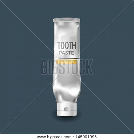 Cool Realistic white tube. For tooth paste