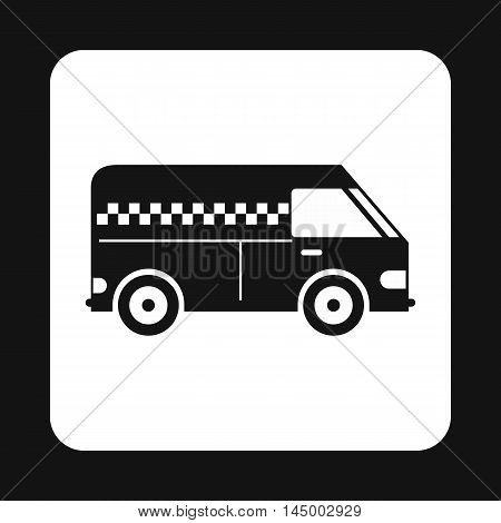 Minibus taxi icon in simple style isolated on white background. Transportation symbol