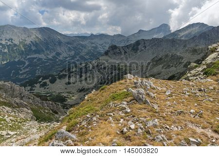 Panorama from Banderitsa pass to Banderishki Chukar peak,  Pirin Mountain, Bulgaria