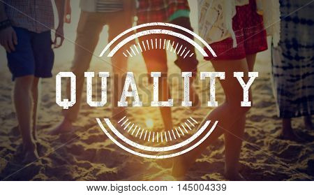 Original Premium Excellence Quality Label Concept