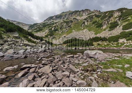 Landscape of Upper Muratovo lake, Pirin Mountain, Bulgaria