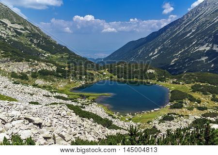 Amazing view of Muratovo lake, Pirin Mountain, Bulgaria