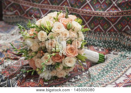 Beautiful Wedding Bouquet Of Roses For Bride