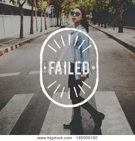 Failed Break Down Fiasco Failure Failure Concept