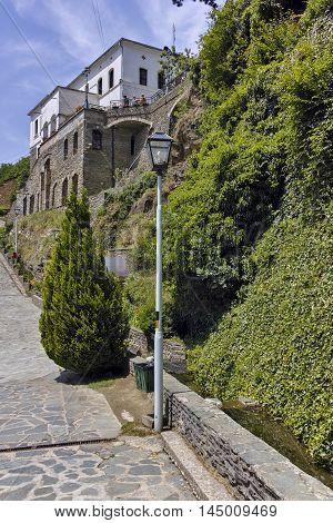 Stone wall in Monastery St. Joachim of Osogovo, Kriva Palanka region, Republic of Macedonia