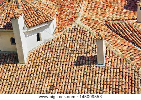 Tiled Roof from Terracotta Tiles of an Old Building