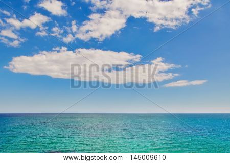 View on the Black Sea under the Cloudy Sky