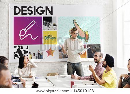 Presentation Paint Meeting People Concept