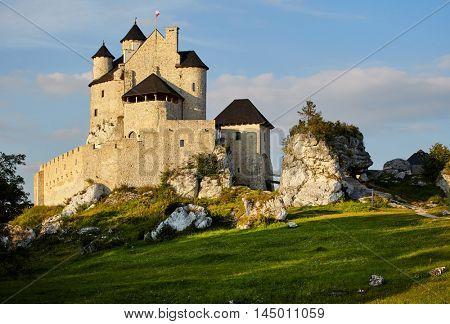 Medieval castle Bobolice, Poland