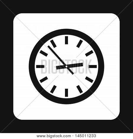 Wall clock icon in simple style isolated on white background. Time symbol