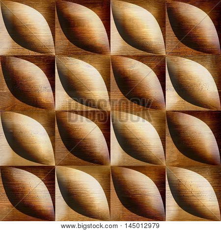 Abstract bean pattern - seamless background - wooden surface