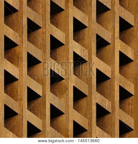 Abstract paneling blocks stacked for seamless background wooden surface
