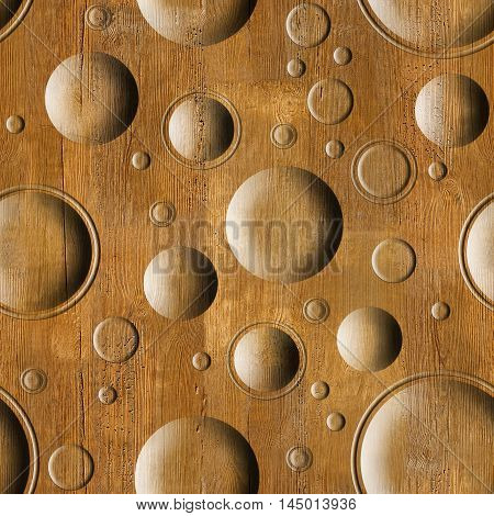 Bubble decorative wooden pattern for seamless background