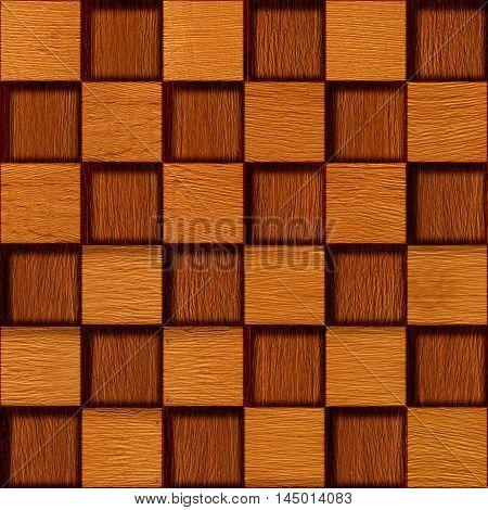 Wooden blocks golden Oak stacked for seamless background