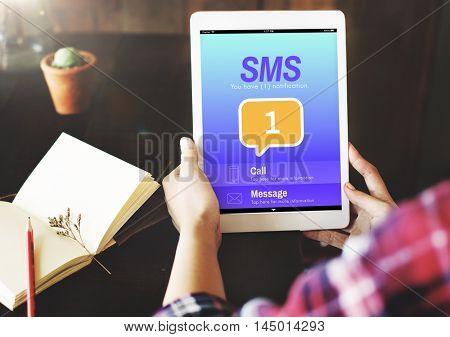 Messaging Communication Notification Alert Reminder Concept